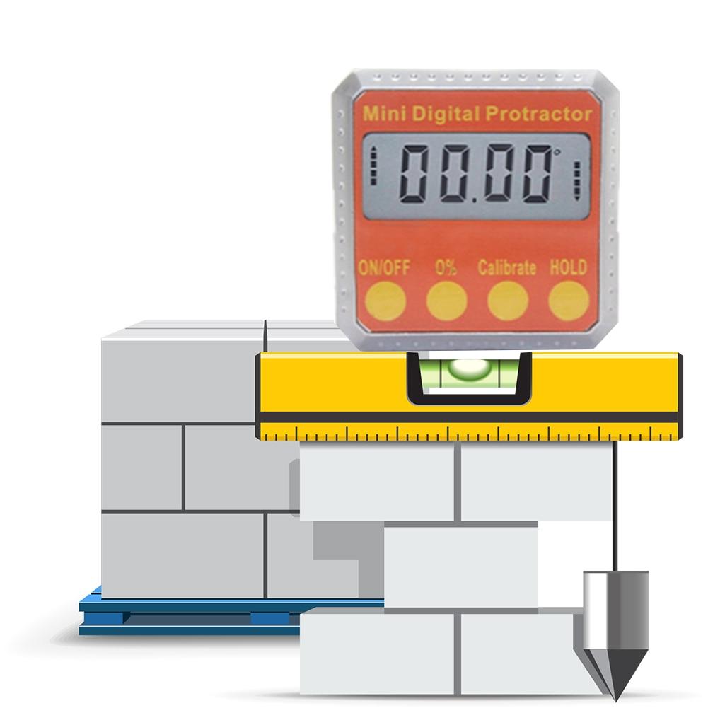 Mini Digital Protractor 360 Degree Electronic Box Gauge Level Inclinometer Magnetic Base Measuring Tool  цены