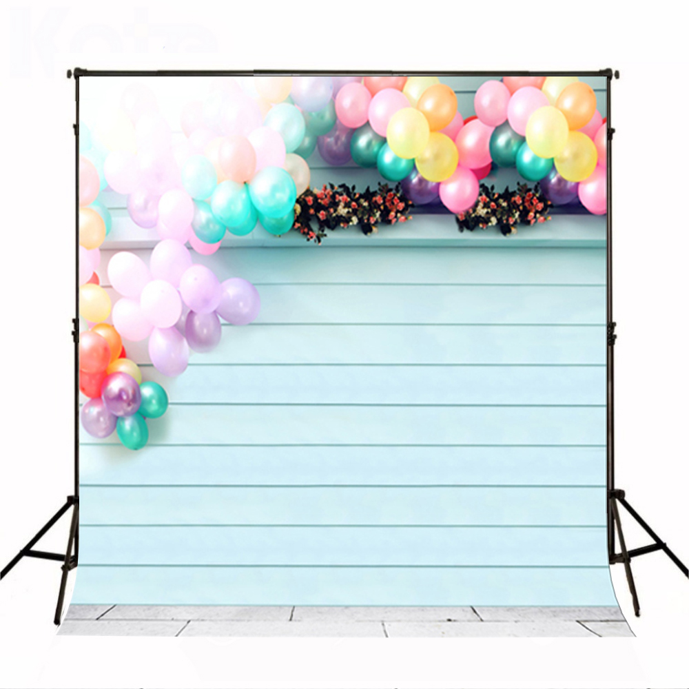 Wedding Photo Background Colorful Balloon Flowers Computer Printing Backdrops Wooden Wall Ground Brick Backdrop for Photos седло велосипедное bike attitude 4111a женское цвет черный