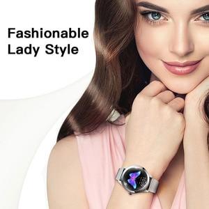 Image 5 - Водонепроницаемые Смарт часы IP68, женские часы с мониторингом сна, пульсометром, Модные Смарт часы KW10 с браслетом для Android и IOS