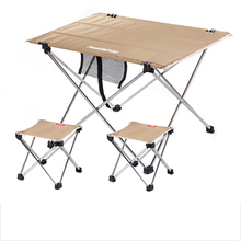 POINT BREAK NH15Z012-S7 Outdoor Folding Tables And Chairs Khaki Small Table 2*folding Chair Outdoor Table Fishing Leisure Chairs