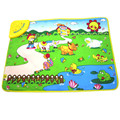 Christmas Gift Promotion Cute Toy Musical Farm Baby Play Mat 69*48CM Musical Carpet Baby Early Educational Toy Baby Play Mat