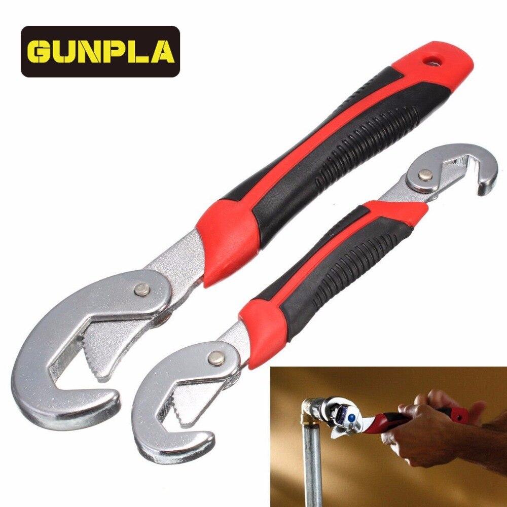 Gunpla Multi-Funcional Conjunto Chave de Encaixe Ajustável e Aderência Universal Wrench Spanner Set 9-32mm chave de Catraca Ferramentas manuais
