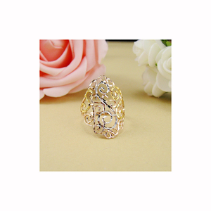 Image 4 - 18k Rose Gold Ring 2020 New Women Fine Jewelry Hollowed out Light Luxury Style Party Club Gift Female Ring  Trendydrop shipping