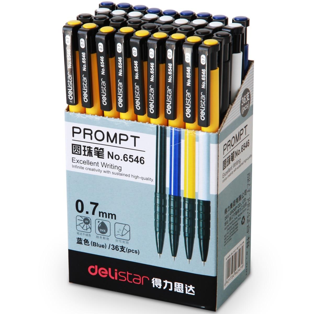 Escrevendo Suprimentos 36 pçs/caixa pressionando caneta esferográfica caneta esferográfica caneta esferográfica barata Por Atacado artigos de papelaria de escritório e material escolar