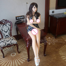 165cm Top Cheongsam Oral Sex Doll Full Silicone Japanese Real Doll Vagina Pussy Anal Real Life Dolls for Sale Adult Sex Toys