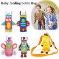 Children water bottle handle Bags Cartoon Feeder Lagging Baby Bottle Huggers Infant feeding bottle bag Case