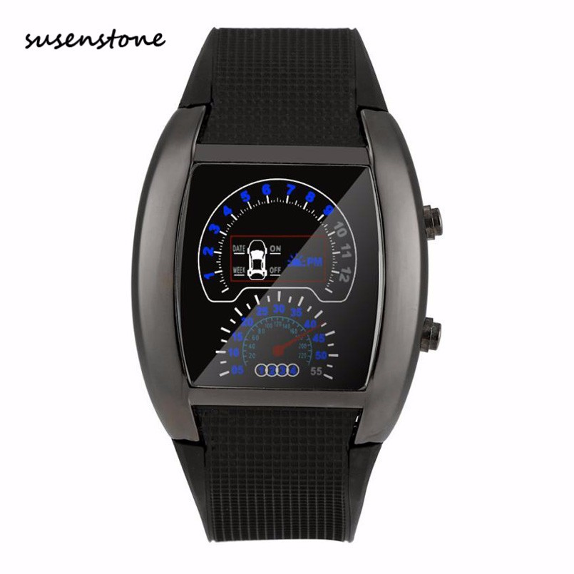 Herrenuhren Uhren Mode Binary Uhr Männer Led Digital Uhr Männer Sport Uhren Edelstahl Herren Uhr Uhr Erkek Kol Saati Reloj Hombre