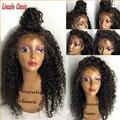 Glueless Полный Шнурок Человеческих Волос Парики Для Чернокожих Женщин Бразильского Виргинские волосы Парик Фронта Шнурка С Ребенком Волосы Глубоко Вьющиеся Полный Шнурок парики