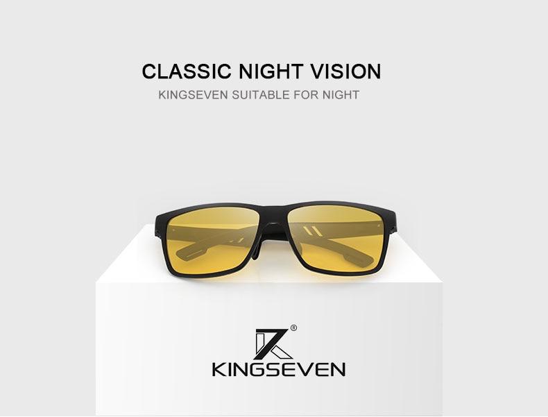 KINFSEVEN Fashion Aluminum Magnesium Polarized Night vision Sunglasses Men Sun Glasses UV400 Driving Eyewear oculos Shades 1