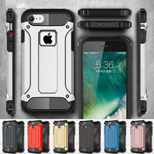 Armor Case for iPhone 8 Rugged Soft TPU Phone Back Cover for iPhone 5 5S SE 6 6S 7 X Plus Slim Military iPhone8 6Plus 7Plus