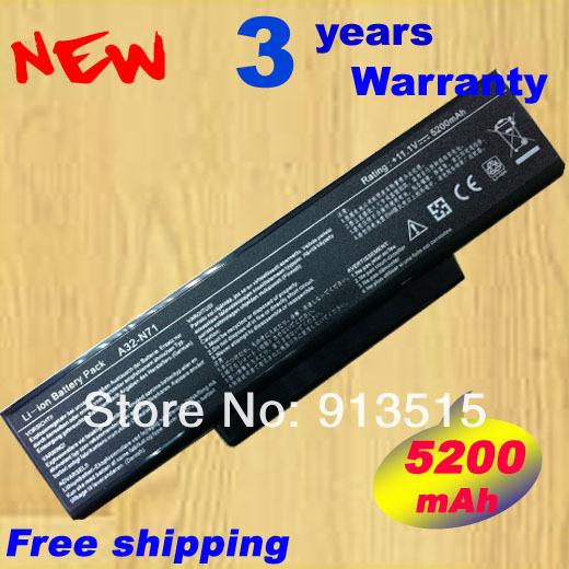 5200 mAh Batería para La Batería Del Ordenador Portátil Para ASUS K73 K72Y K73E K73J K73JK K73S K73SV N71 N71J N71JA N71JQ N71JV N71V N71VG