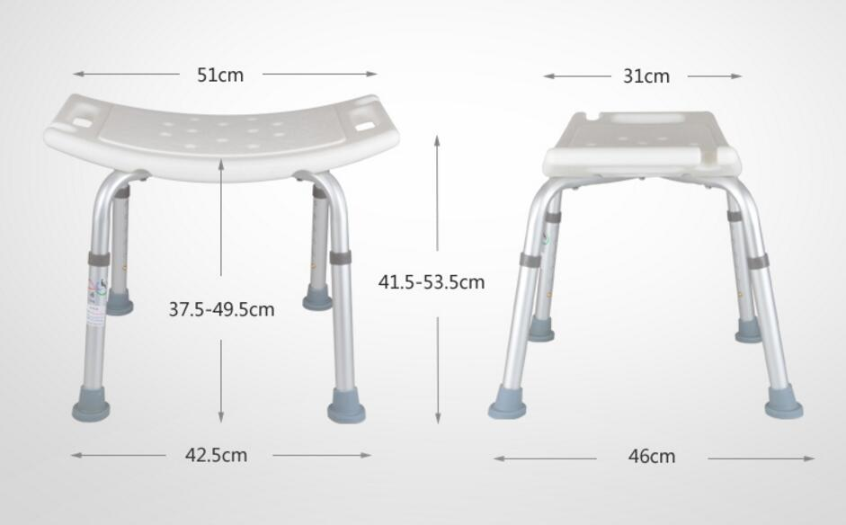 High quality Professional bathroom chair skidproof bath stool for Patients the Old and Pregnant woman bathroom folding seat shower stool shower wall chair stool old people anti skid toilet stool bath wall chair