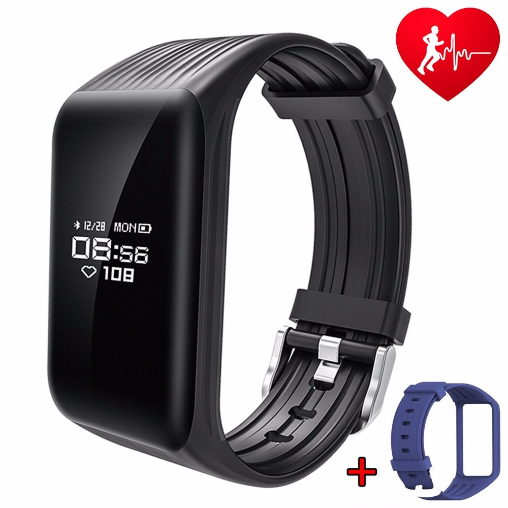 Fitness Tracker Watch Real-time Heart Rate Monitor down to Sec smart band Sports Bracelet Passometer Message & call Reminder