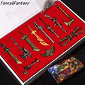 League Of Legend Keychain LoL 11 Pcs Character Weapons Metal Pendant Key Ring LOL Key chain Collection In Box Fancy Gift ZKLOLC
