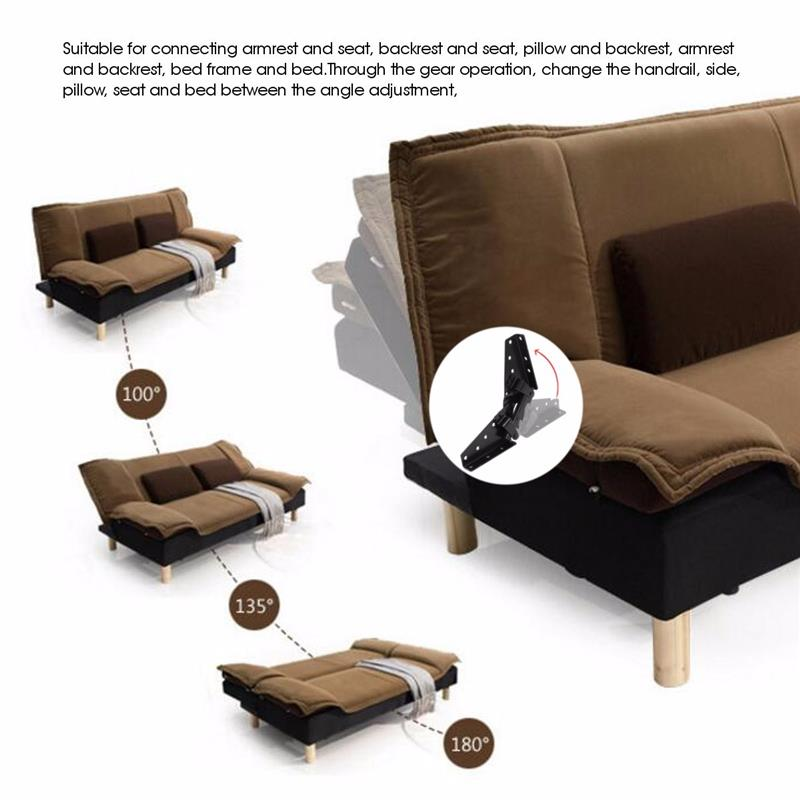 Terrific Us 10 53 21 Off Black Metal Steel Sofa Bed Furniture Adjustable 3 Position Angle Mechanism Hinge Hardware Screws Are Not Included In Cabinet Hinges Unemploymentrelief Wooden Chair Designs For Living Room Unemploymentrelieforg