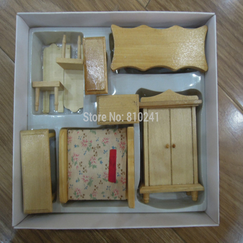 1:24 Dollhouse Miniature Wood Furniture Toy Baby Girls 3-6 Years Old Gift