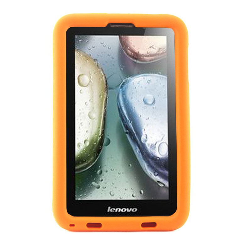 все цены на MingShore Rugged Silicone Case For Lenovo A7 A3000 A3000-H 7inch Hand Band Cover For Lenovo A7 A3000-V 7.0 Tablet Case онлайн
