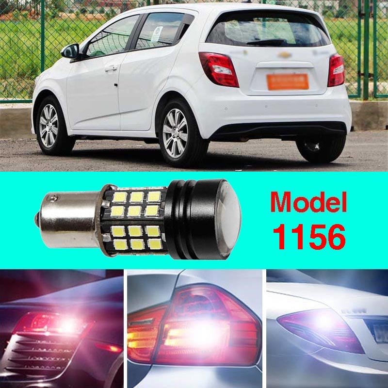 Error Free 1156 Socket 360 Degrees Projector Lens LED Backup Reverse light R5 Chips Replacement Bulb For Chevrolet Aveo ruiandsion 2x75w 900lm 15smd xbd chips red error free 1156 ba15s p21w led backup revers light canbus 12 24vdc