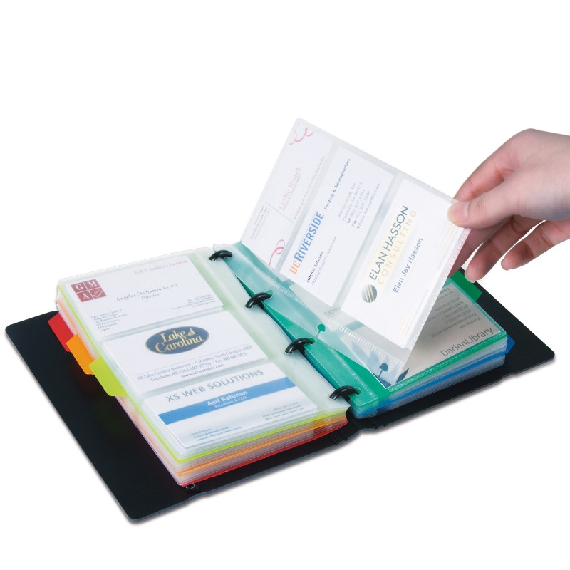1 PC/Lot 90-case-for-180-business-card Business Card Holder & Card Stock With Colorful Stickers For Office Stationery 5778