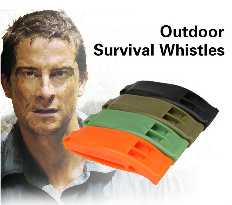 1PCS Tactical Survival Sentinel Hikes Loud Plastic Dual Band Match Whistle