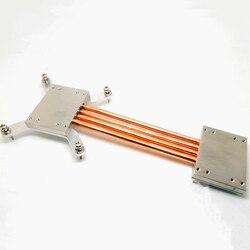 Для Intel 1151 1155 1150 компьютер без вентилятора процессор радиатор медь 6 мм тепловая трубка DIY kit Алюминиевый Чехол тихий беззвучный радиатор