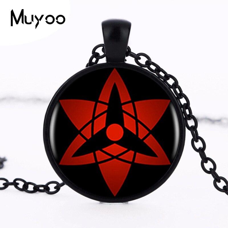 Wholesale Naruto Sharingan Shippuuden Eyes Pendant Necklace Black Chain Vintage Necklace Men Jewelry Children Gift HZ1