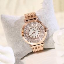 цена на New Luxury Bracelet Wrist Women Rhinestone Watches Lady Dress Women Diamond Brand Watch Ladies Crystal Quartz Clocks