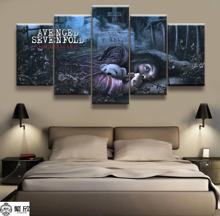 5 Panel Avenged Sevenfold Heavy Metal Band Poster Canvas Printed Painting For Living Room Wall Art Decor Picture Artworks