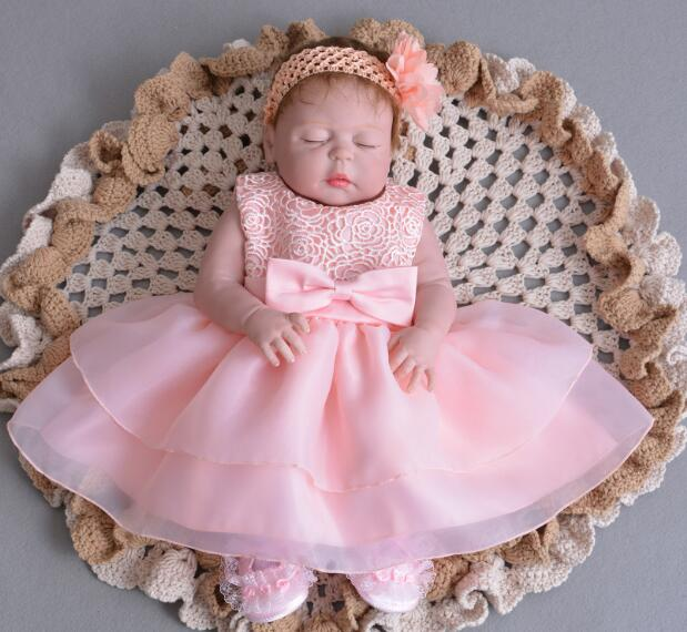 Big Size Princess Anna 22in 55cm Lovely Doll Bebe Girl Reborn Full Silicone Reborn Baby Dolls Lifelike Alive Play House Toy Gift