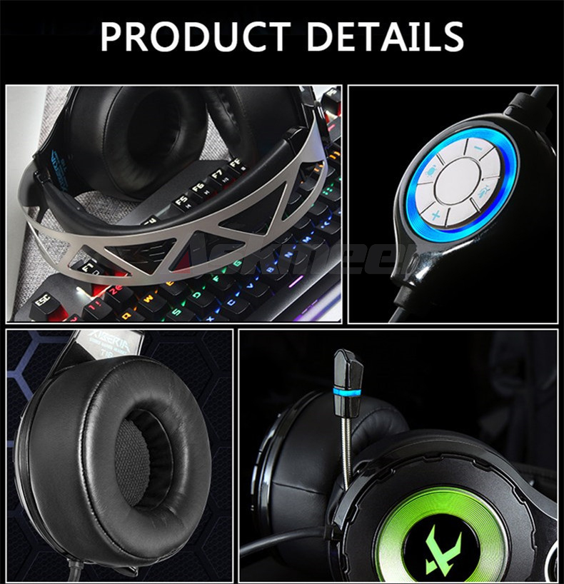 XIBERIA T18 Stereo Gaming Headphones with Microphone 7.1 Surround Sound Deep Bass Gamer Headset for Computer Best casque (10)