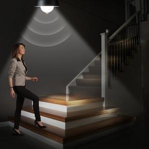Image 3 - Лампа с датчиком движения 85 265 в движение тела Авто включение/выключение движения/звуковой датчик светильник 3 Вт 5 Вт 7 Вт 9 Вт лестница безопасности Nachtlampje