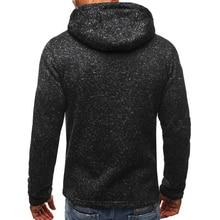 LeeLion 2018 Spring Hoodies Men Long Sleeve Slim Fit Sweatshirts Zipper Cardigan Cotton Sportswear Fashion Solid Male Tracksuit
