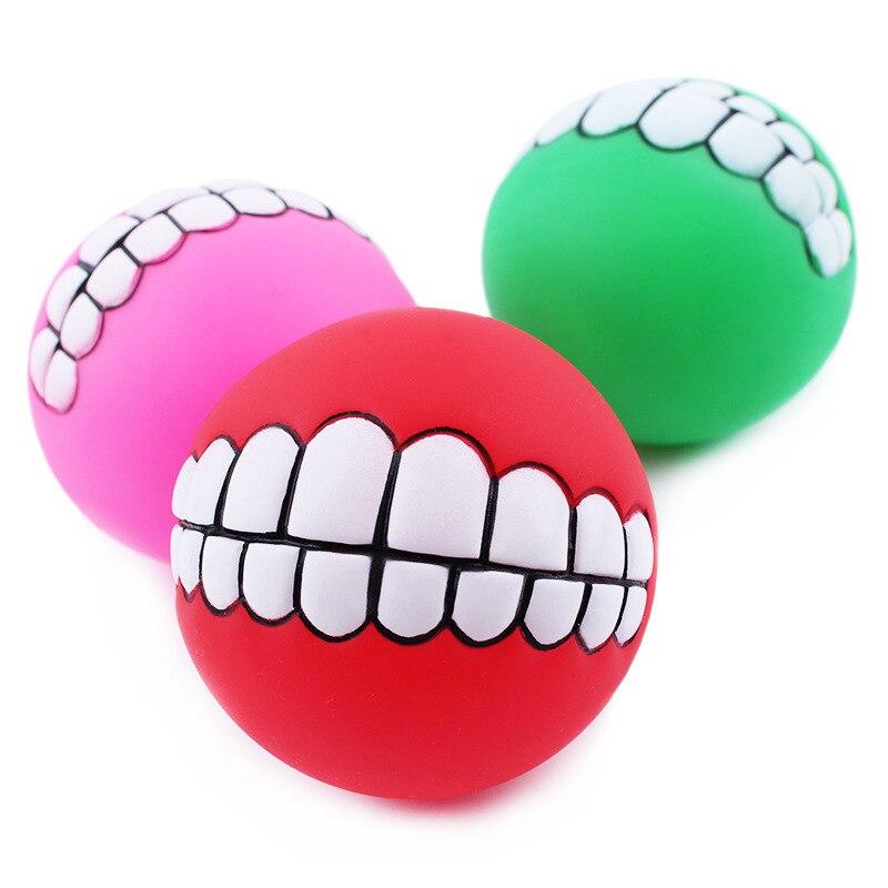 Juguetes para mascotas De Vinilo Grueso Vocal Dental Bola de Entrenamiento Pelot