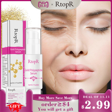 hot deal buy gold polypeptide serum argireline repair skin anti-aging hyaluronic acid whitening skin care essence face care anti wrinkle