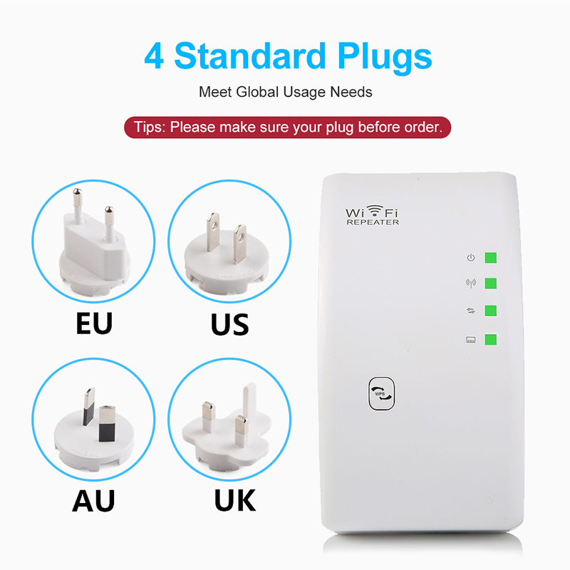 300Mbps Wireless WiFi Repeater WiFi Booster WiFi Amplifier Wi-Fi Long Signal Range Extender Wi Fi repeater 802.11N Access point 4