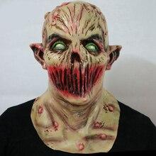 Straszny dorosły halloweenowy potwór Zombie maska kostium lateksowy strona Horror maska na całą głowę wampir Cosplay maska Masquerade rekwizyty