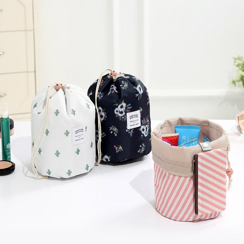 Case Makeup-Bag Toiletry-Kit Vanity-Organizer Travel Feminina-Storage Women New Round