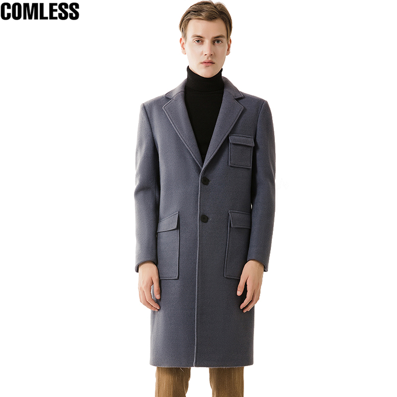 High Grade 2017 New Trench Coat Men Korea Slim Fit Winter Jackets Multi-pocket Fashion Design Mens Long Overcoat Windbreaker