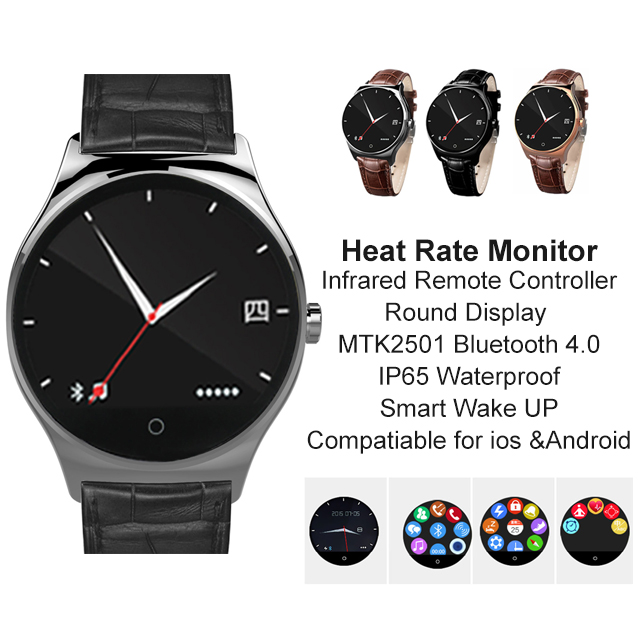 ФОТО Hot sale! New R11 Infrared Remote Controller Smart Watch Round Display MTK2501 Bluetooth 4.0 Heart Rate Monitor IP65 Smartwatch