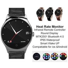 Heißer verkauf! neue R11 Infrarot-fernbedienung Smart Uhr Round Display MTK2501 Bluetooth 4,0 Pulsmesser IP65 Smartwatch