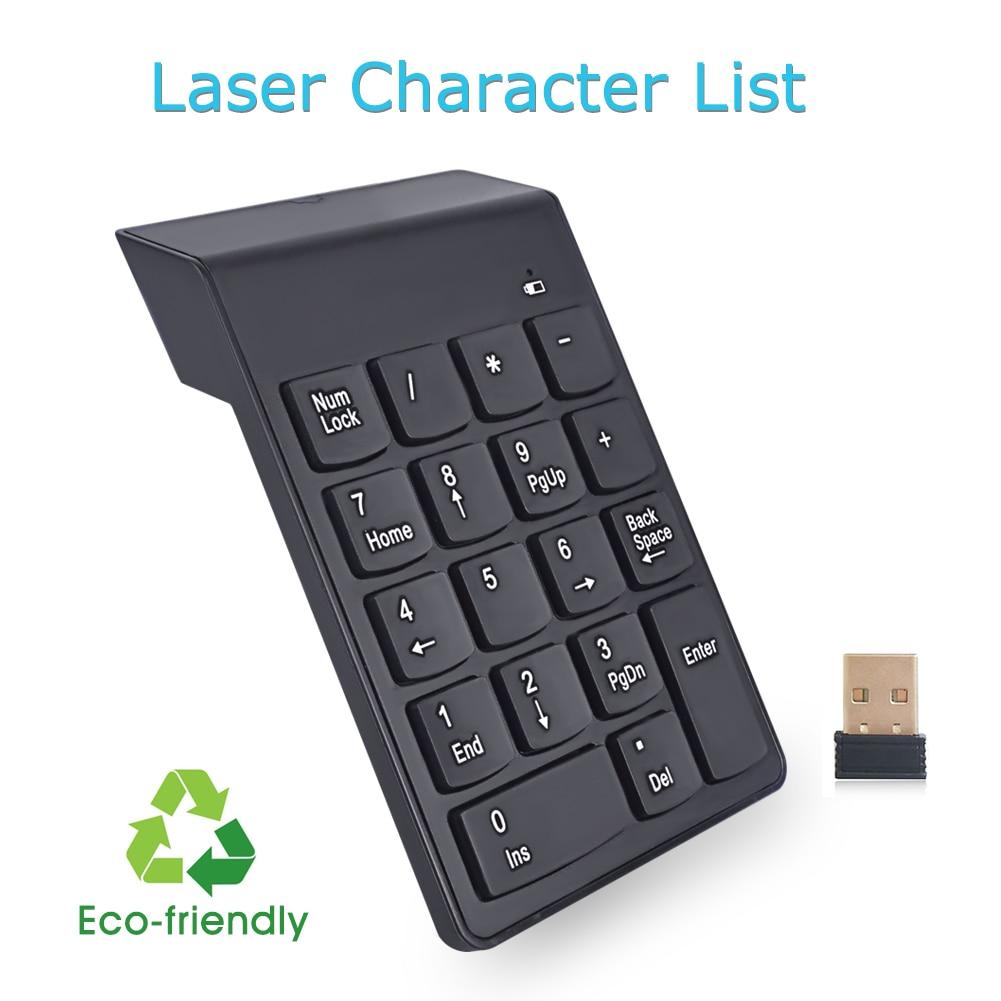 Ultra-delgado teclado numérico USB 2.4G Mini teclado inalámbrico - Periféricos de la computadora - foto 2