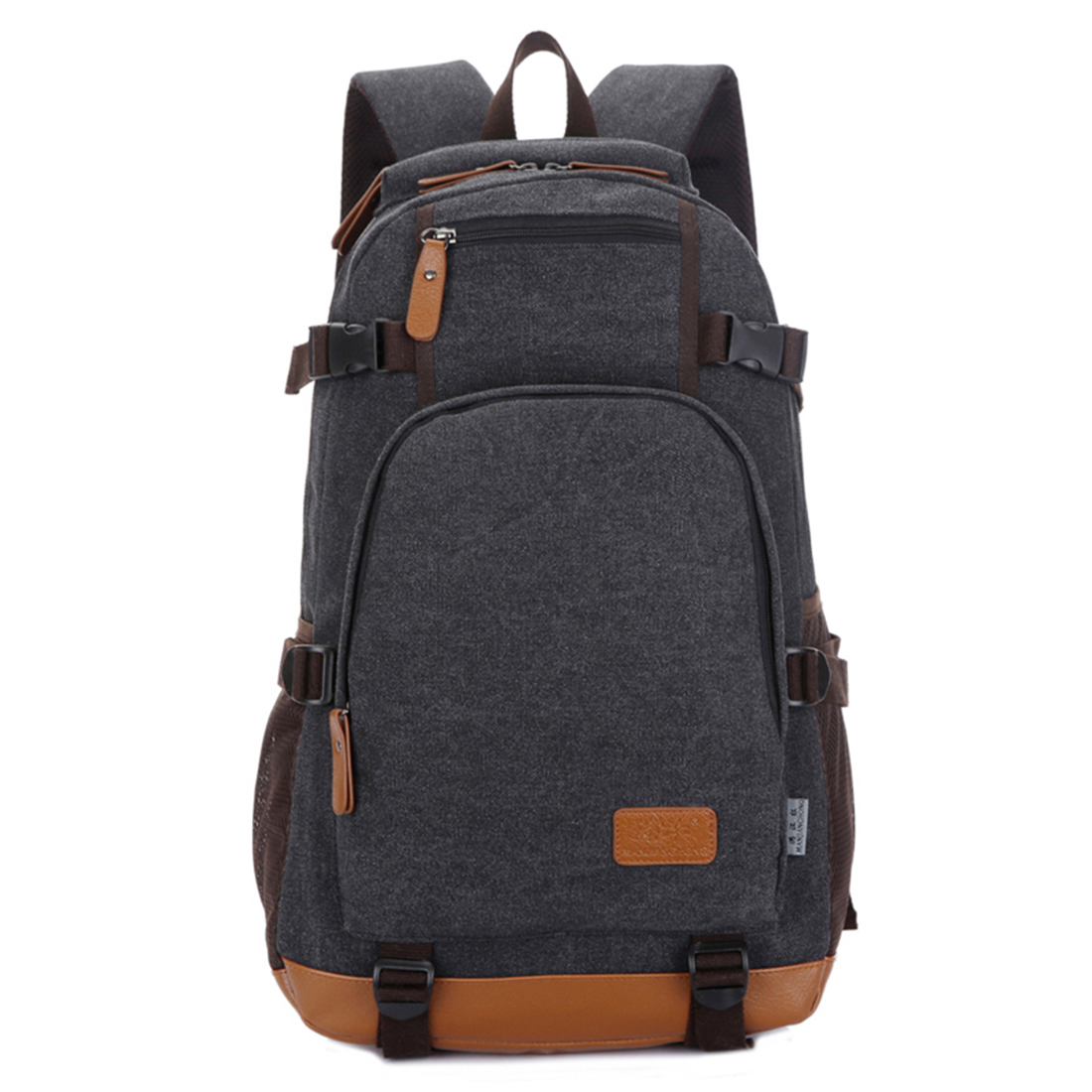 Fashion canvas men's daily travel duffle backpack for laptop Korean style vogue hipster versatile youth school bag contemporary and contracted fashion creative artistic personality nordic office led eye learning real wood desk lamp of bedroom