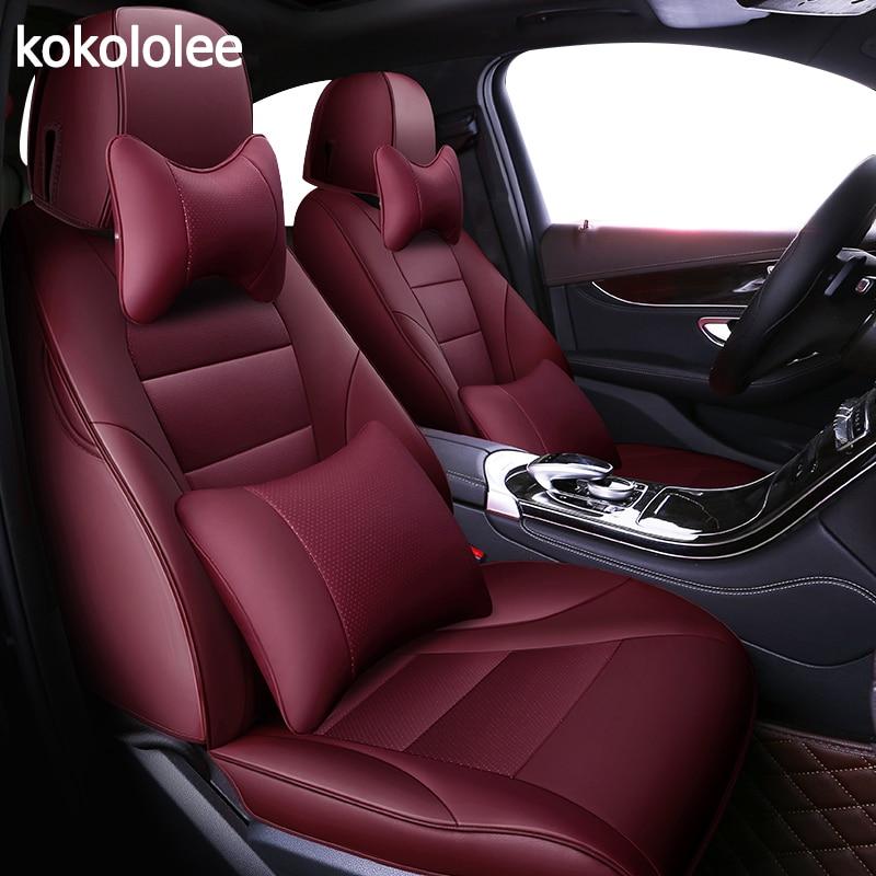 Kokololee personnalisées en cuir véritable housse de siège de voiture pour lexus LS série RX série NX GS CT GX LX RC série automobiles Siège Couvre