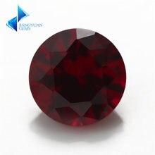 8 #50 шт 35 ~ 11 мм заводская цена круглый красный камень синтетические