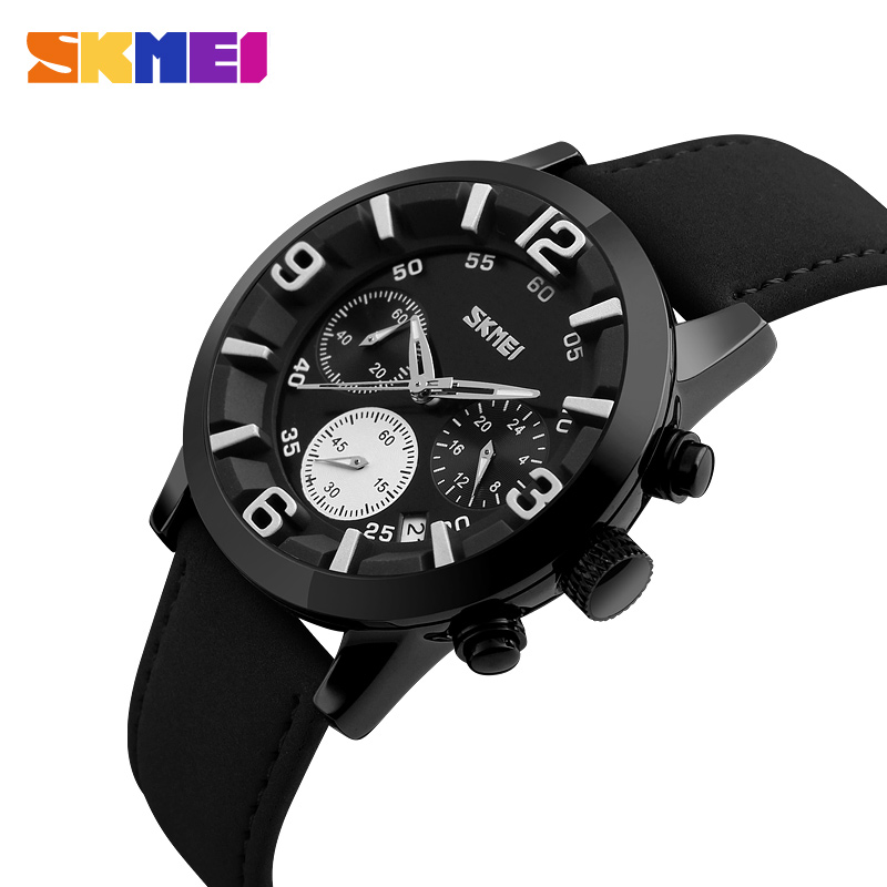 SKMEI Men Quartz Watch 30M Water Resistant Sports Watches Complete Calendar Wristwatches Relogio Masculino 9147 цена 2017