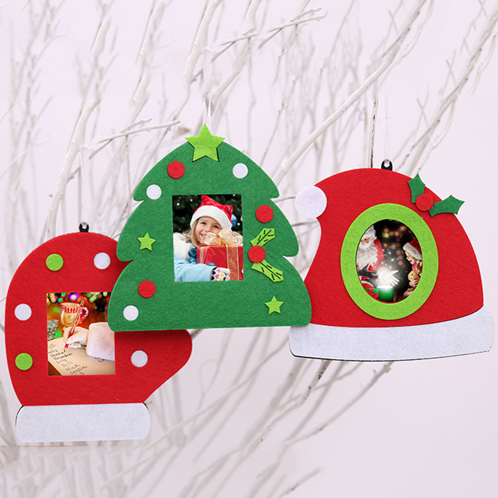 Hot Fashion Merry Christmas Tree Gloves Hanging Photo Frame Decoration Christmas Picture Frame Home Chirstmas Decoration ...