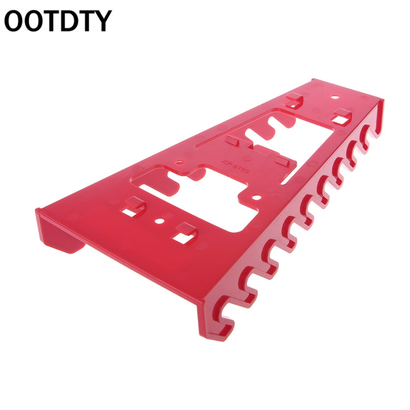Red Wrench Spanner Organizer Sorter Holder Tray Socket Storage Rack Plastic Tools