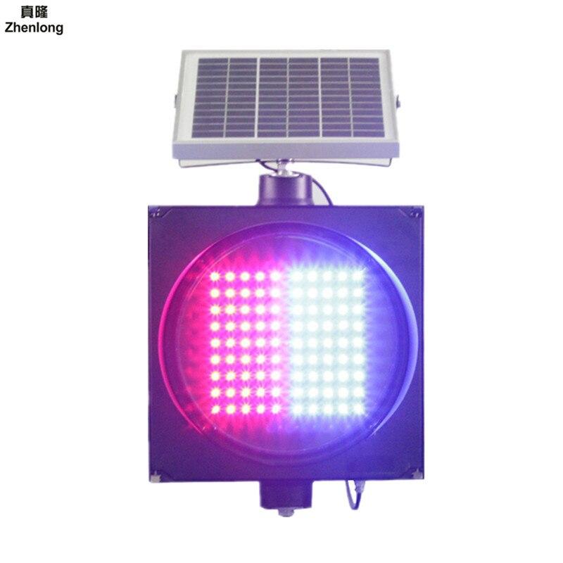 Énergie solaire clignotant lumières autoroute transport alerte solaire stroboscope lumière rouge et bleu balise pour Intersections courbes pont