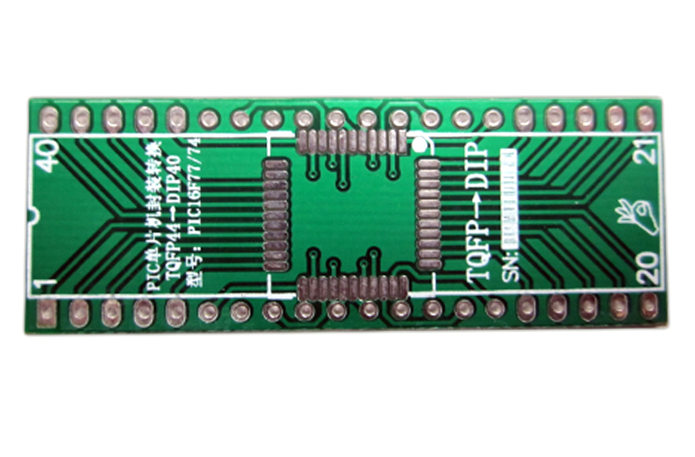 PIC MCU TQFP44 IC-DIP40 IC Adapter Socket Adapter Plate PCB PB-FREE Without Pin Header