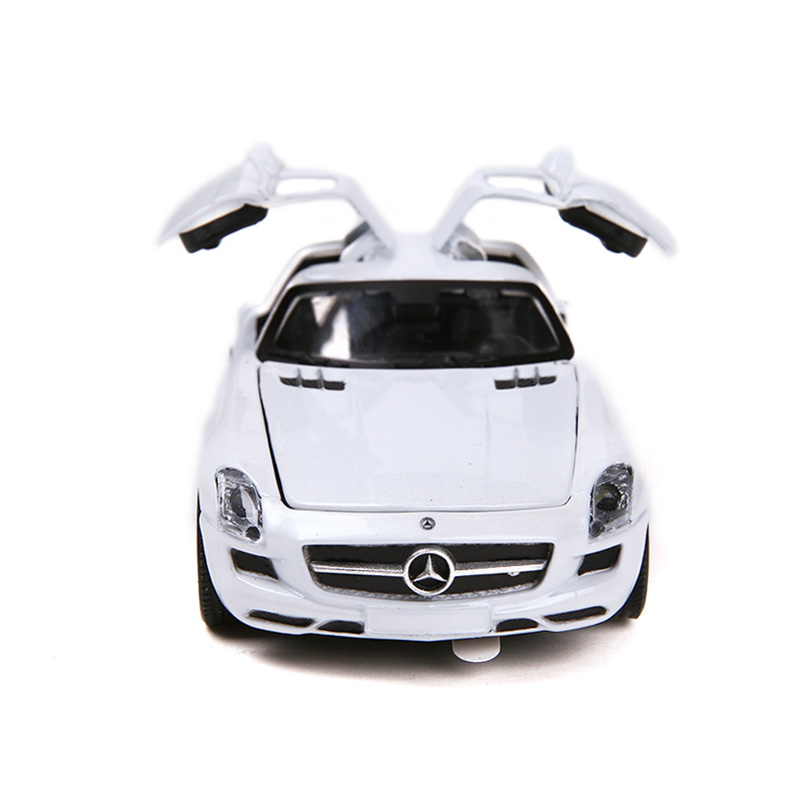 1:32 SLS Super car Simulation Toy Car Model Alloy Pull Back Children Toys Genuine License Collection Gift Off-Road Vehicle Kids